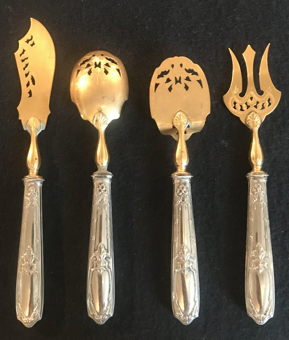 French Gold and Silver Hors D'Oeuvres Set in Original Box
