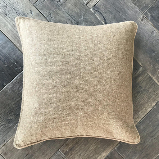 Brown Flannel Herringbone Pillow from England (New)