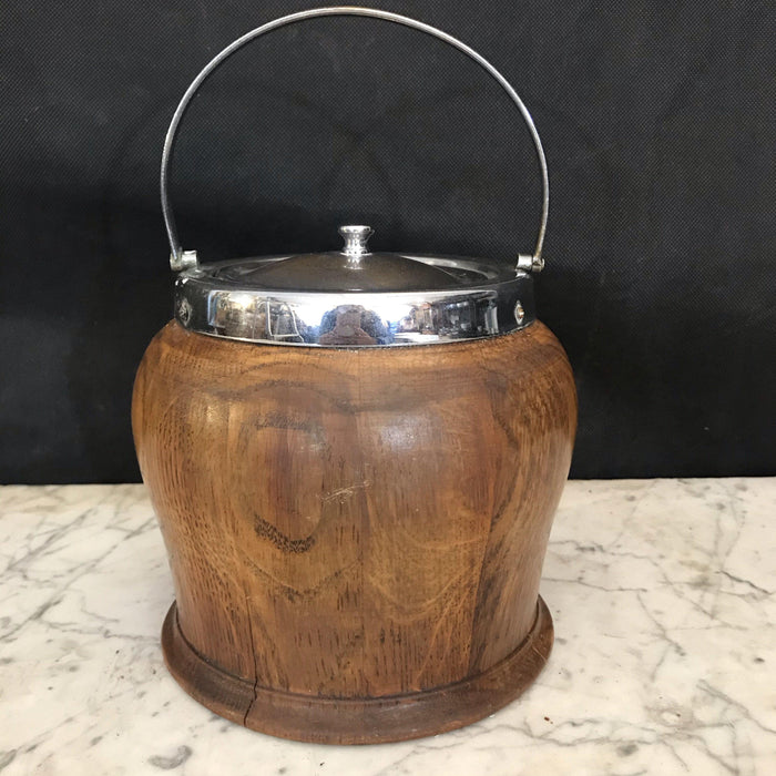 British Oak Biscuit Barrel