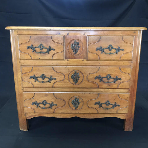 French 19th Century Cherry Wood Commode or Chest of Drawers
