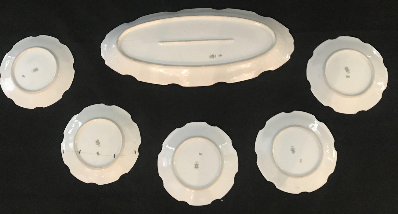 Limoges Bonet Signed Fish Platter Set