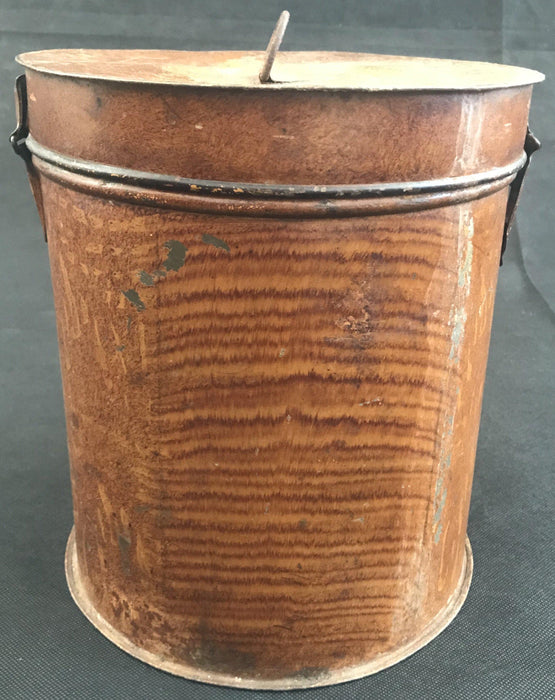 Faux Painted British Metal Canister