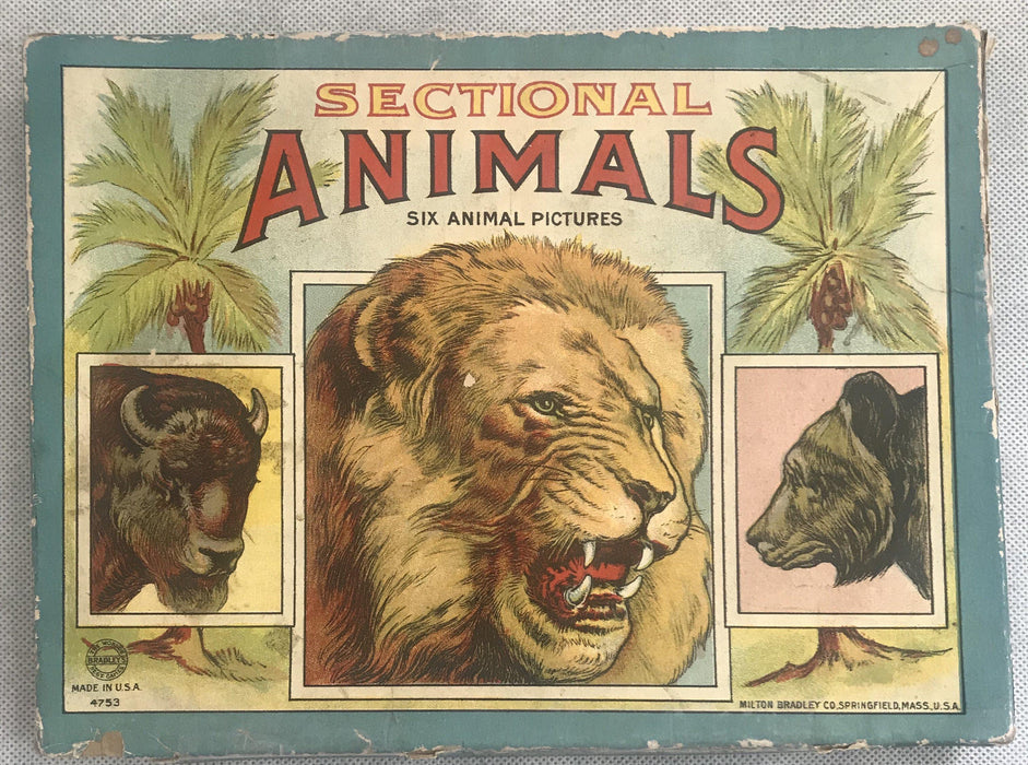Five Early Animal Puzzles of Lion, Zebra, Elephant, Tiger and Bear to sell