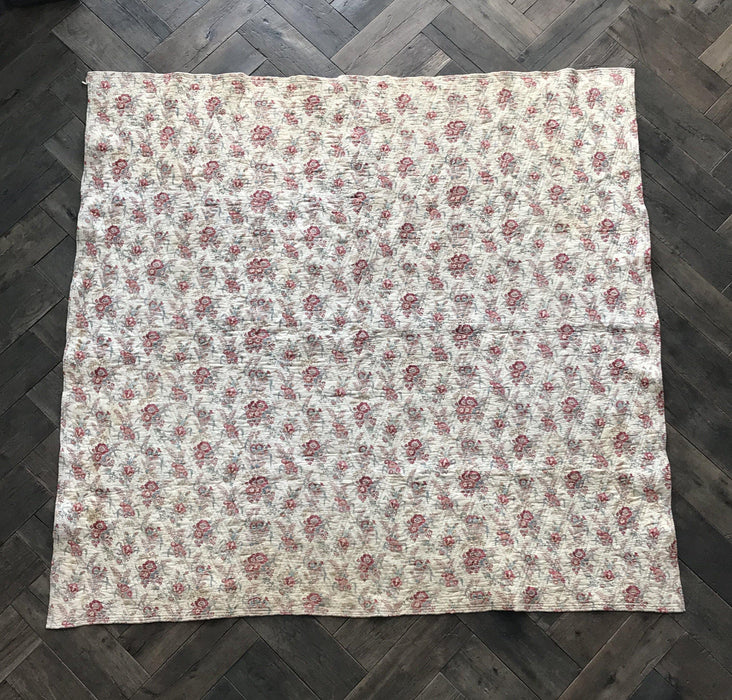 For sale: French Floral Quilt 2-Sided