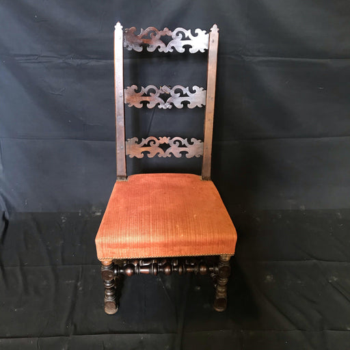 Early French Louis XIII 17th Century Carved Walnut Side Chair