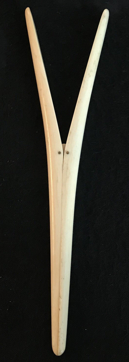 Antique spring action bone glove stretcher made in England for sale