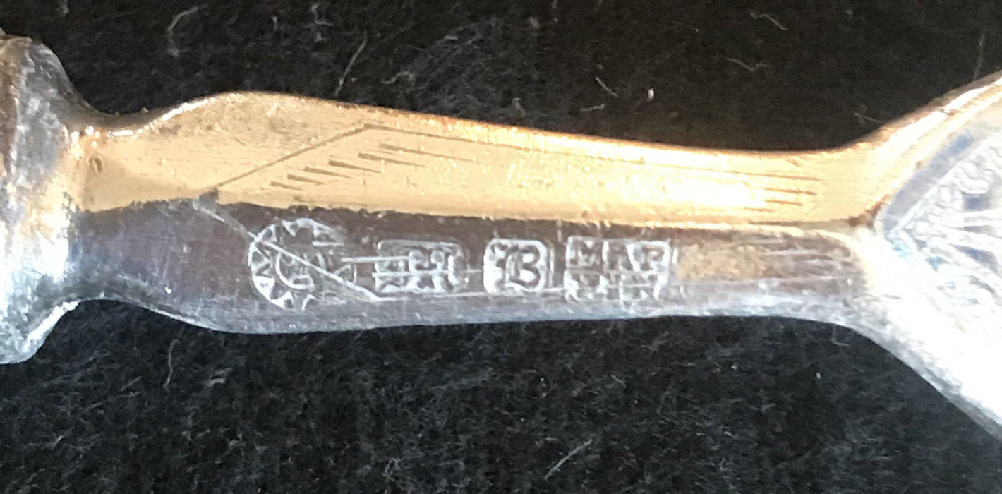 hallmarked Early carved Mother of Pearl Fork/Knife set