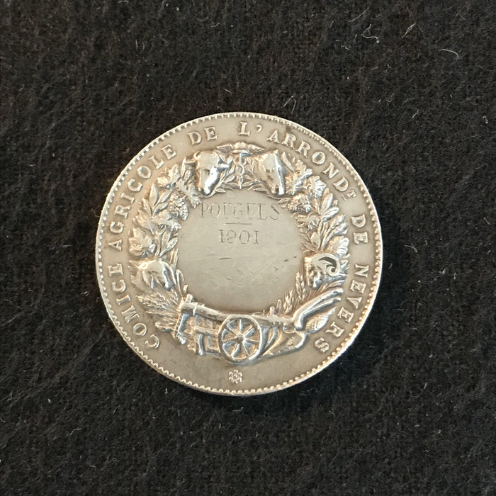 french medal comice agricole de l'arrondt de nevers antique