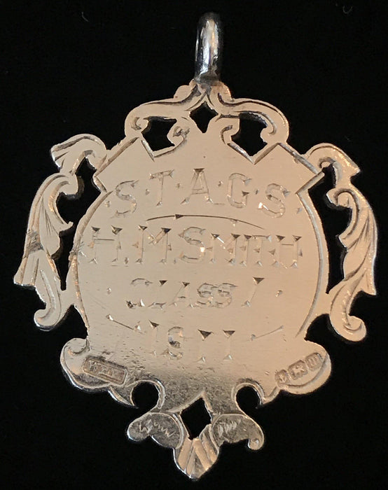 Buy this British Silver and Gold British Medal Pendant dated 1911, maker William Hair Haseler Birmingham