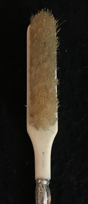 Small Antique French Silver/Bone Brush