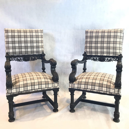 pair french carved chairs for sale