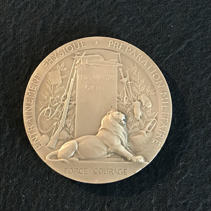 french medal si-vis pacem para bellvm pro-patria antique