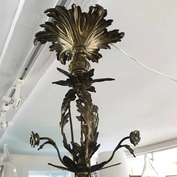 Large French Louis XV Antique Bronze 16 Light Chandelier