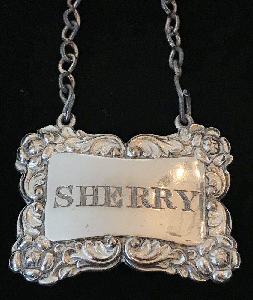 Super early 1820/30 British Silver Sheffield Sherry Label for sale