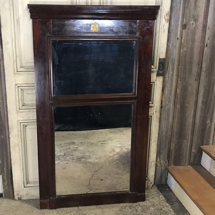 French Empire Mahogany Trumeau Mirror