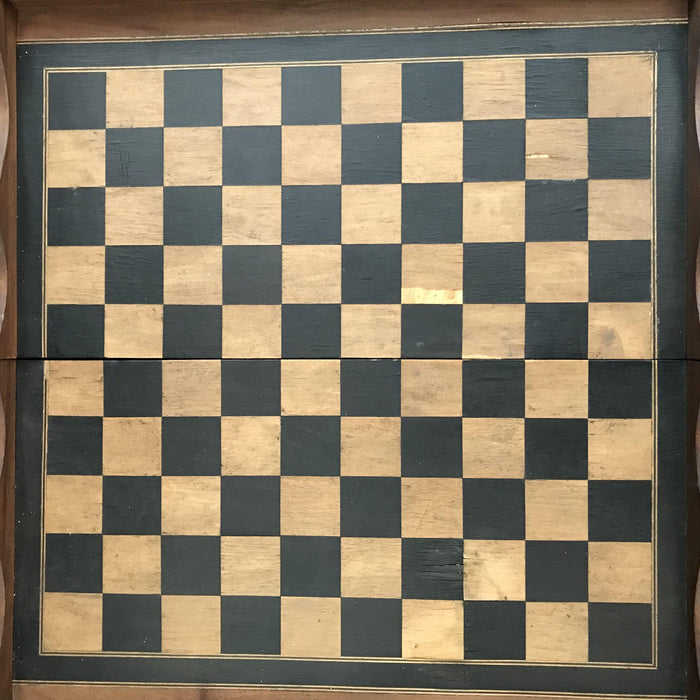 French Inlaid Chess and Checkerboard/Chequerboard, Backgammon rare unusual for sale