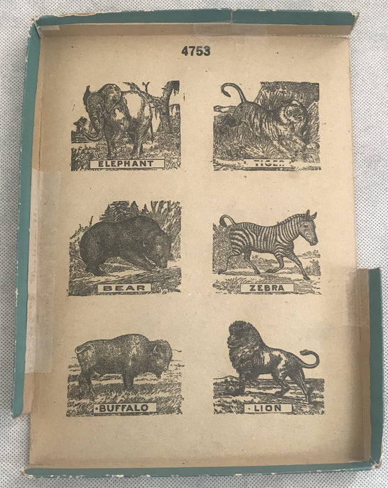 Five Early Animal Puzzles of Lion, Zebra, Elephant, Tiger and Bear fabulous to sell