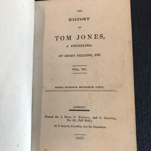 1807 British Tom Jones Book for sale