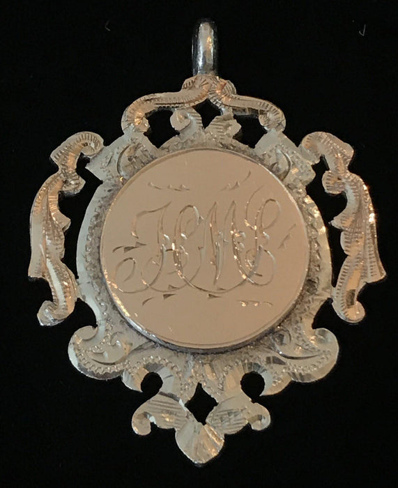 British Silver and Gold British Medal Pendant dated 1911, maker William Hair Haseler Birmingham for sale