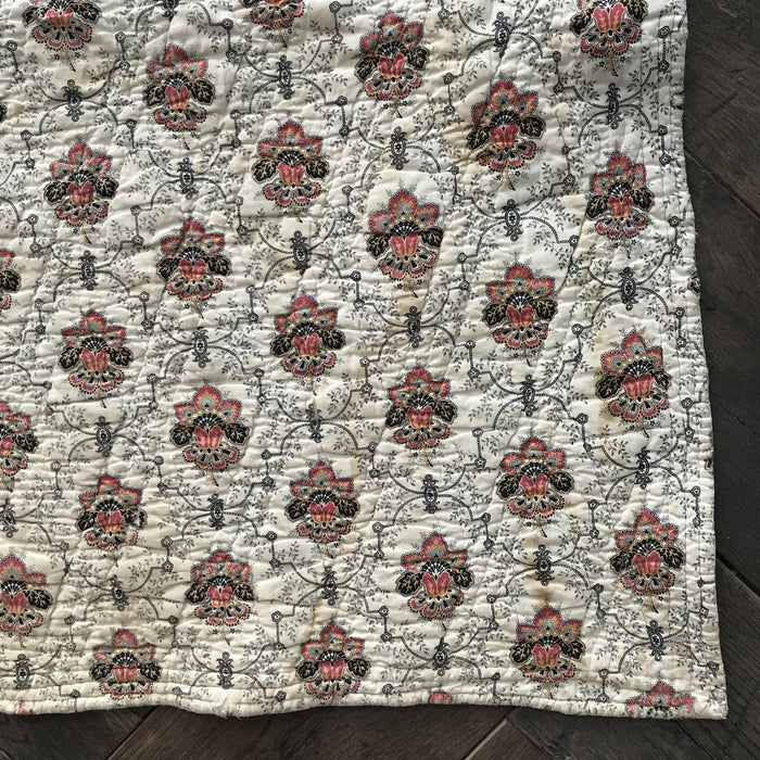 French Floral Quilt 2-Sided