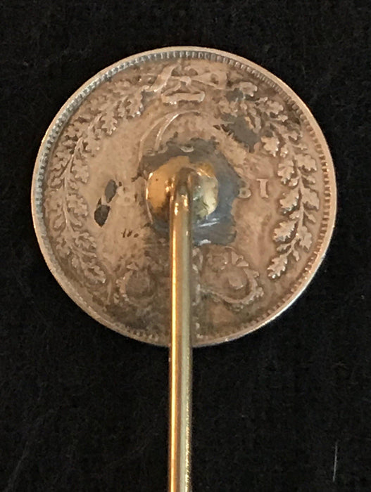Antique Coin British Hat Pin Fabulous