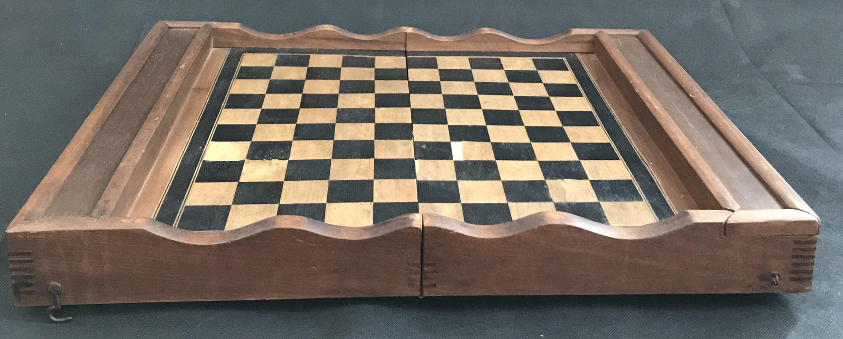 Rare International Checquerboard French Inlaid Chess and Checkerboard/Chequerboard, Backgammon for sale