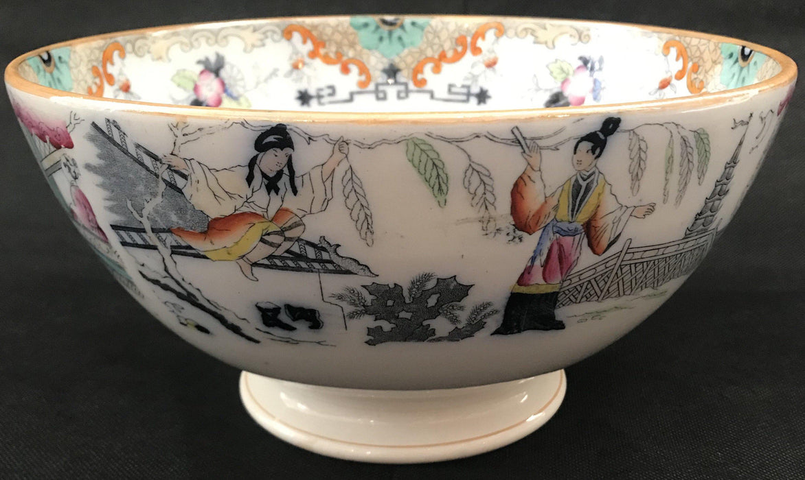 Antique Maastricht Pottery Bowl: Timor Pattern