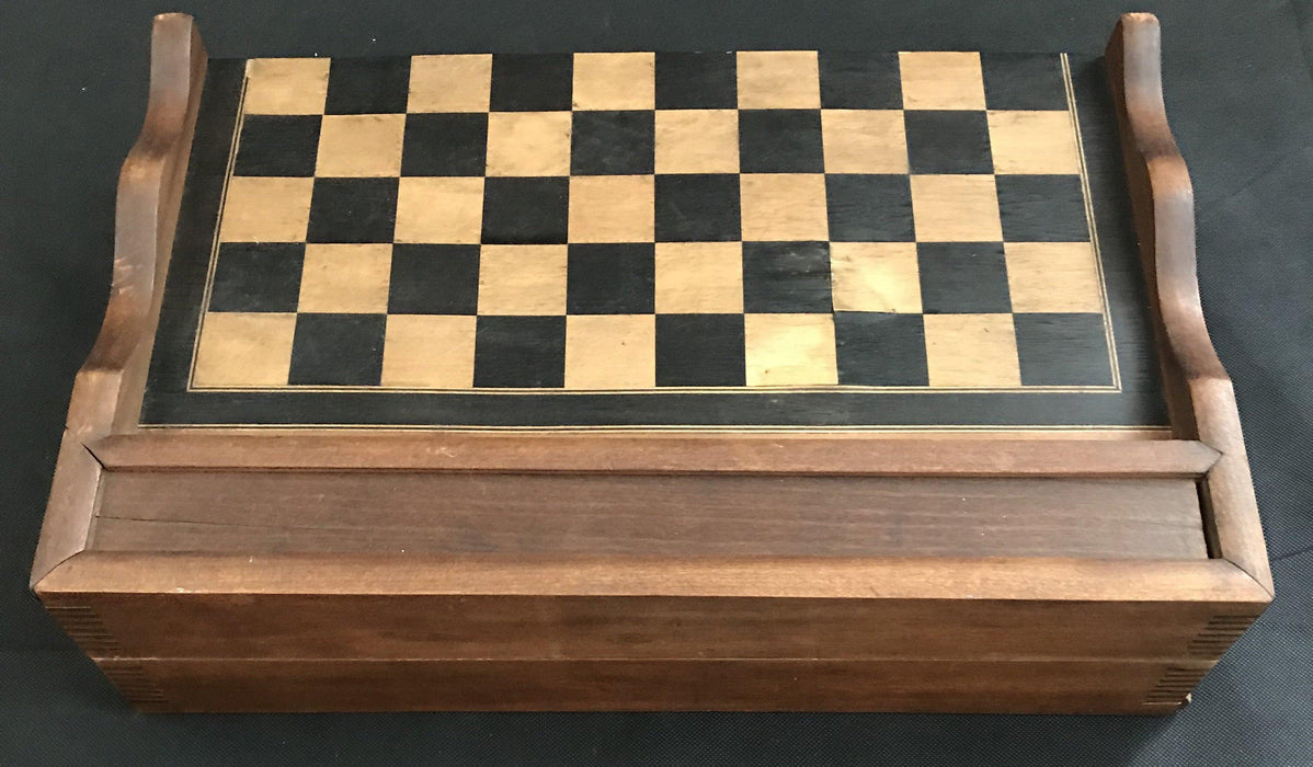 Beautiful French Inlaid Chess and Checkerboard/Chequerboard, Backgammon for sale