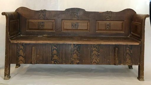 Antique Faux Painted Hungarian/Romanian Pine Bench, circa 1875 for sale