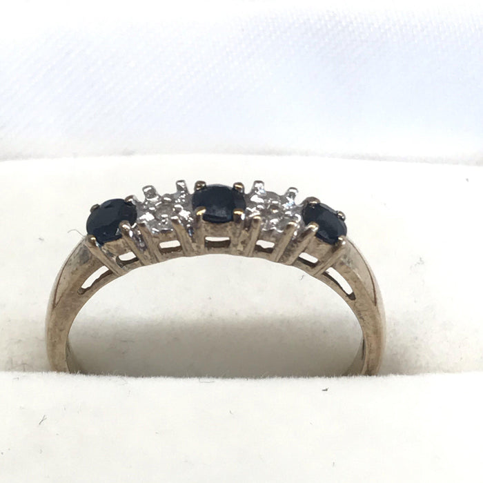 English Diamond and Sapphire Ring