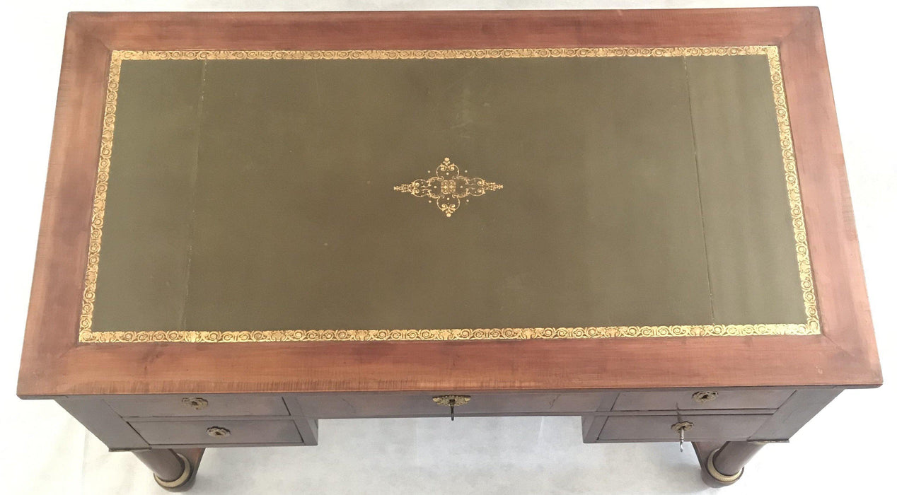 To Sell: 19th Century French Dual Sided Empire Style Pedestal Leg Desk