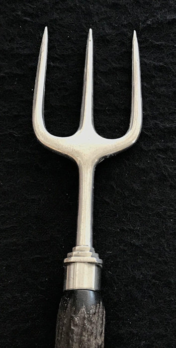 Antique British Silver and Antler/Horn Bread Fork