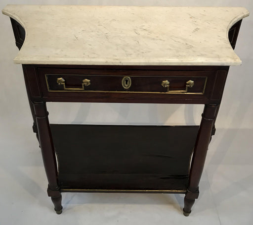 French Louis XVI Style Early Marble Top Console Table for sale