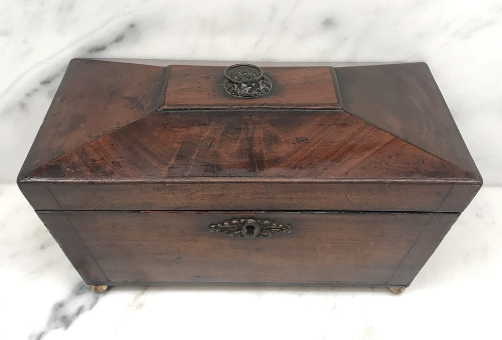 For Sale: British Regency Tea Box with Original Key