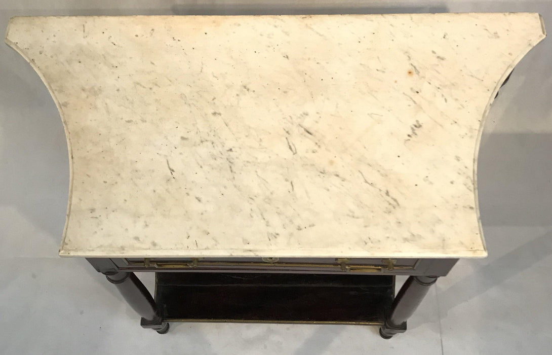Gorgeous French Louis XVI Style Early Marble Top Console Table