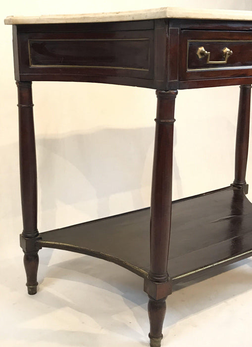 Buy this French Louis XVI Style Early Marble Top Console Side Table