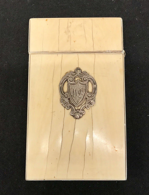 French Card Case with Sterling Crest