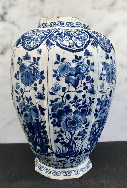 Large Early Signed Delft Vase For Sale
