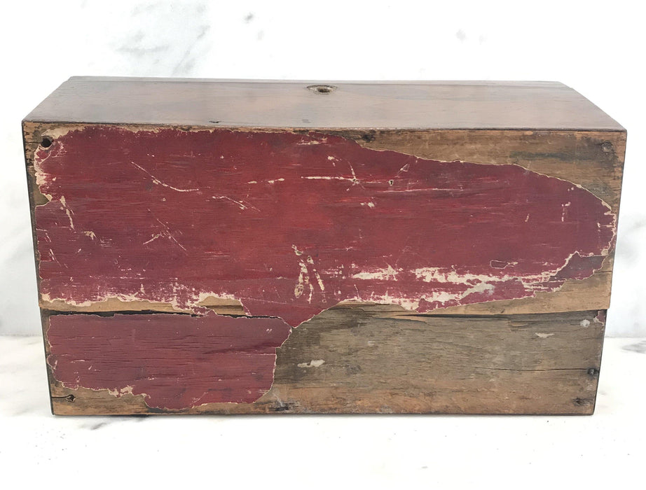 Antique British Rosewood Georgian Tea Box with Original Key For Sale