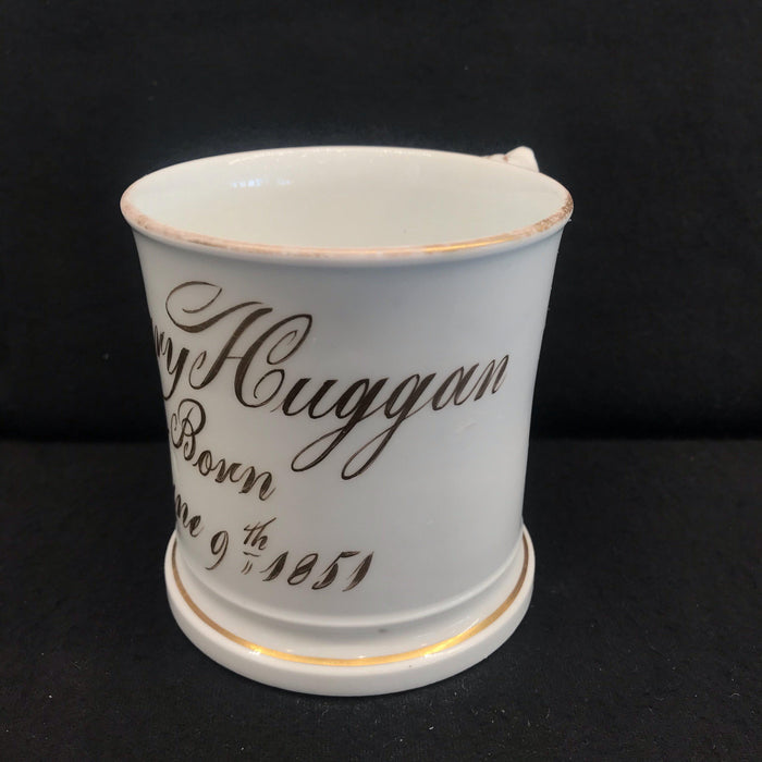 British Mug/Cup from 1851 commemorating a Child's Birth
