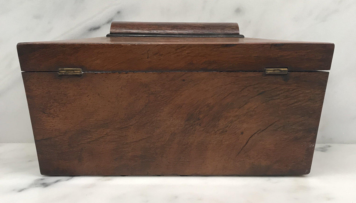 Antique British Regency Rosewood Tea Box with Original Lining For Sale