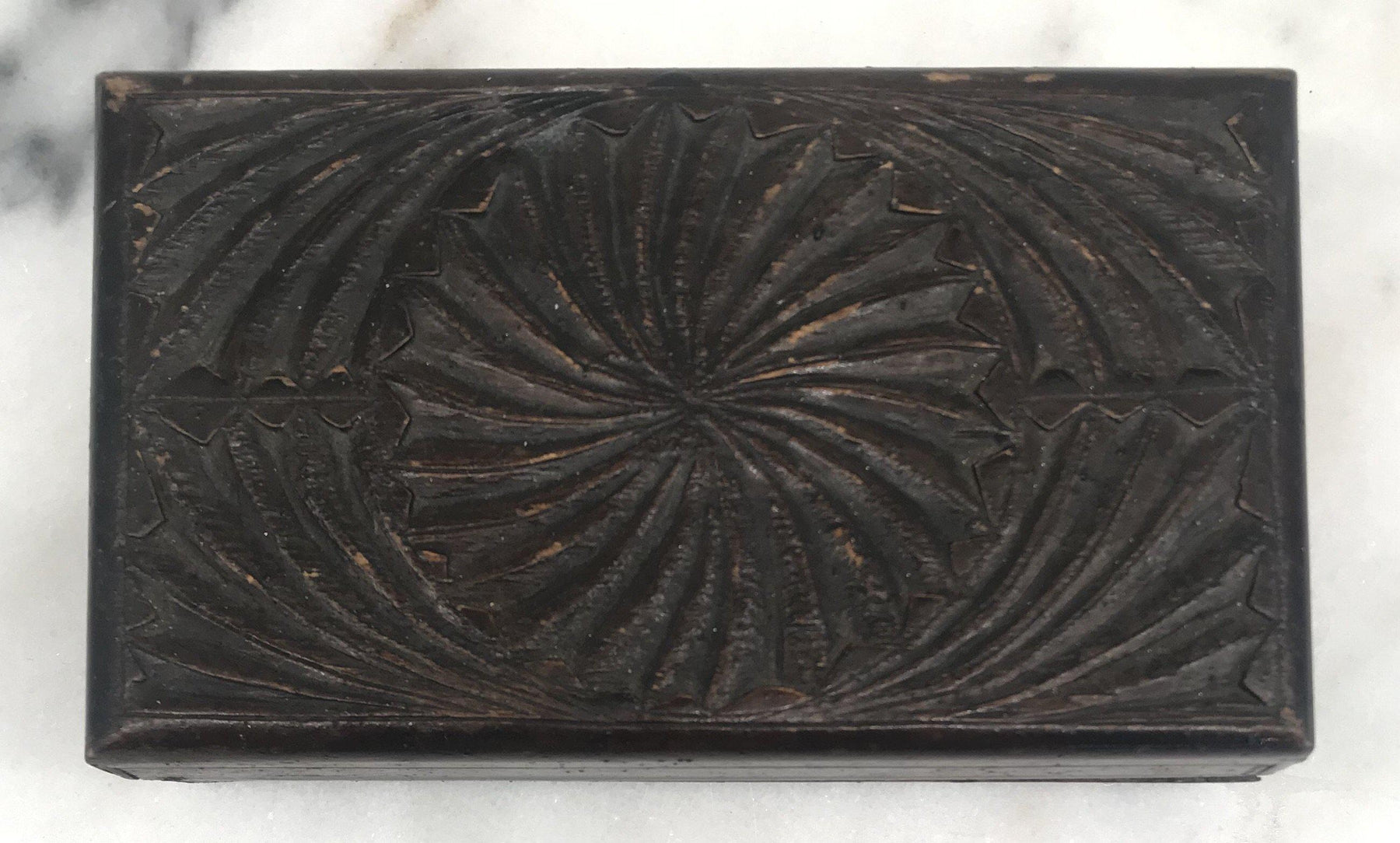 For Sale: British Hand Carved Box from 1915