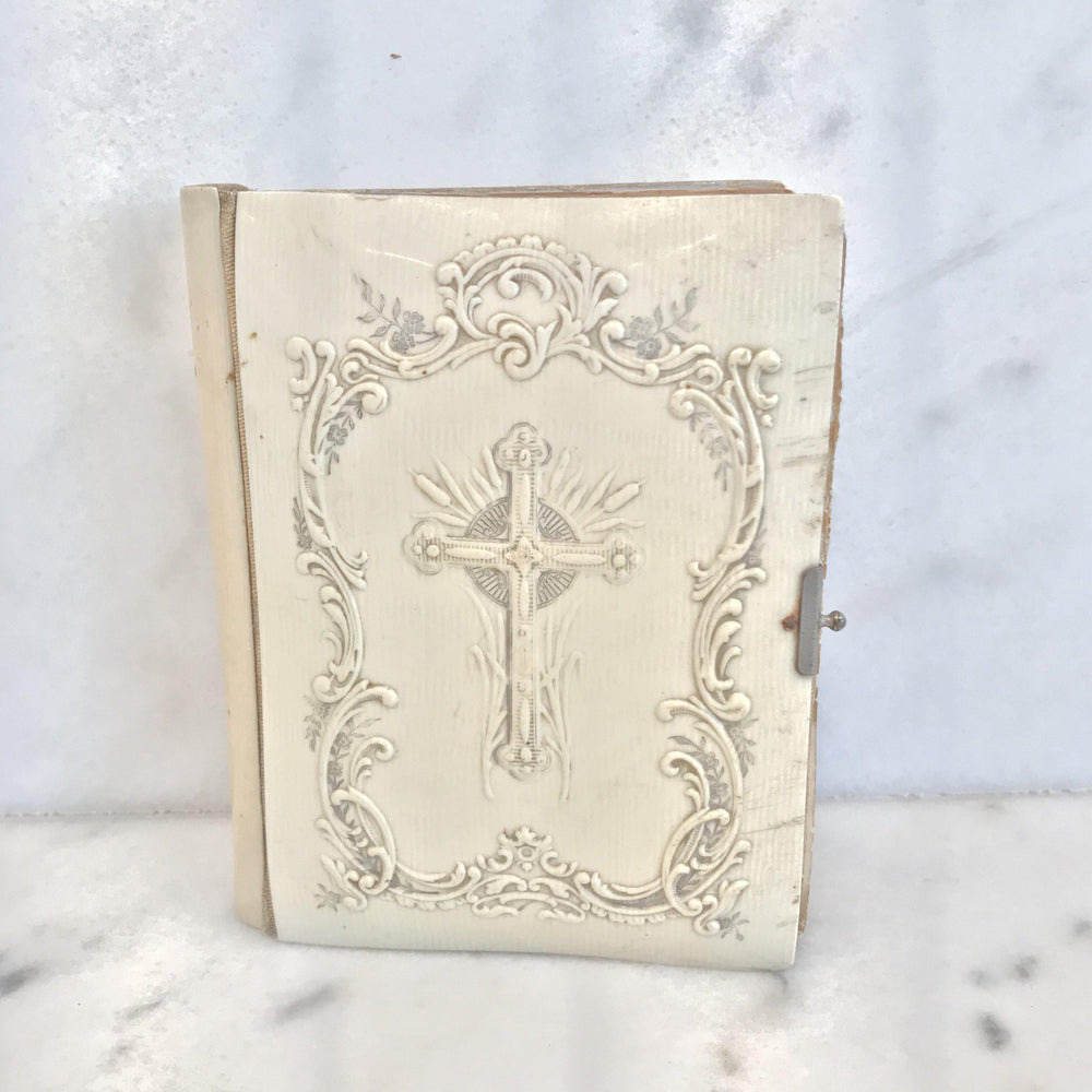 Antique French Prayer Book with Gold Gilt Page Edges