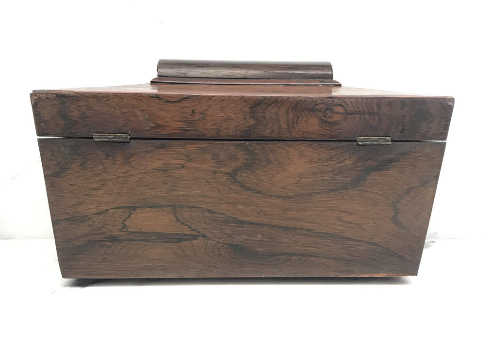 To Buy: British Rosewood Georgian Tea Box with Original Key