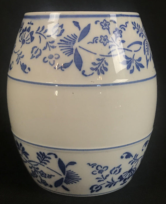 Mid-Century Blue and White Porcelain Rice Canister