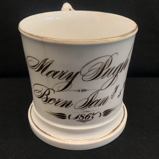 British Mug/Cup from 1867 Commemorating the Birth of a Child