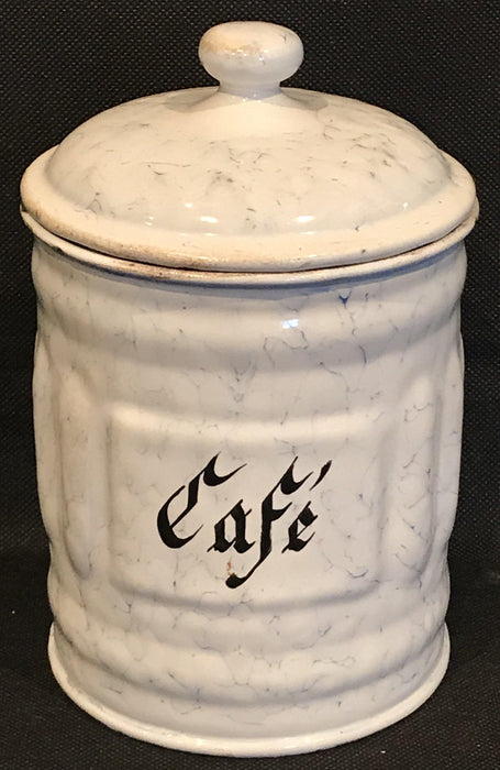 To buy: French Six Piece Enamel Canister Set White with Black Hand Lettering
