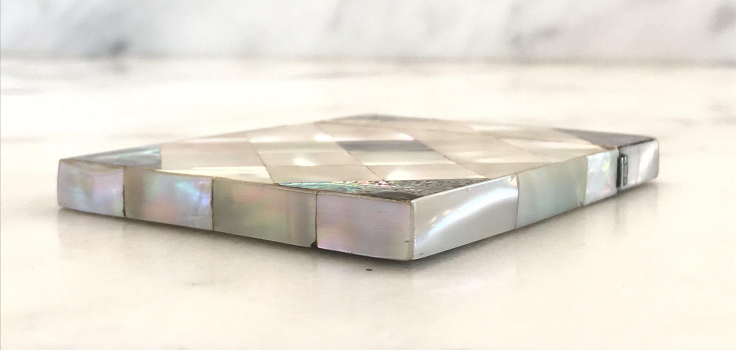 19th Century English Victorian Mother of Pearl Card Case