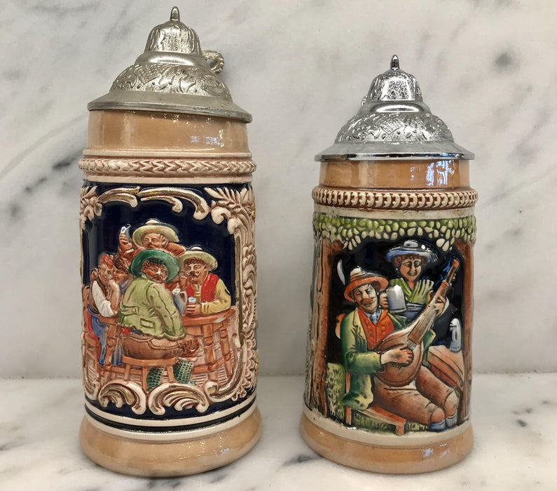 Antique Collection of German Steins (7)