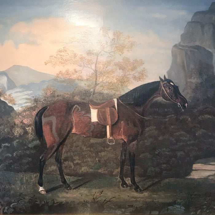 British Equestrian Painting dated 1826 by Daniel Lloyd for sale